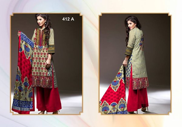 Al-Hamra Textile Linen Dresses 2014 Volume 1 For Women 009