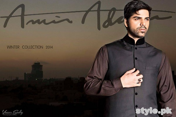 Amir Adnan Winter Collection 2014 For Men 2