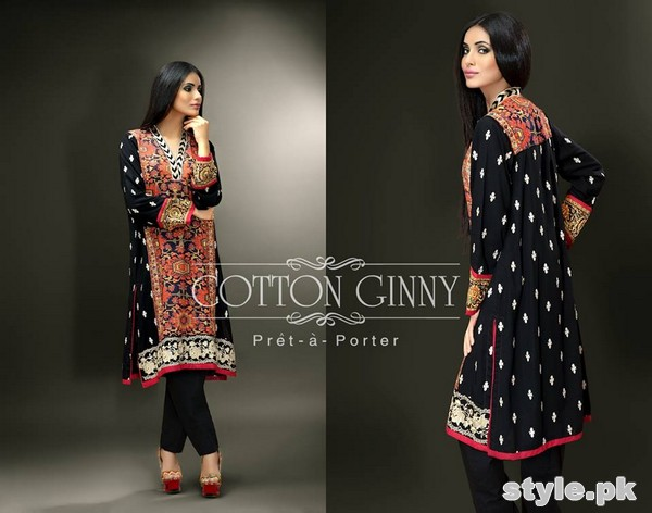 Cotton Ginny Digital Print Dresses 2014 For Winter 5