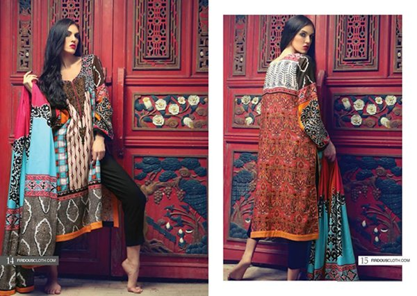 Firdous Cloth Mills Winter Dresses 2014 For Women 001