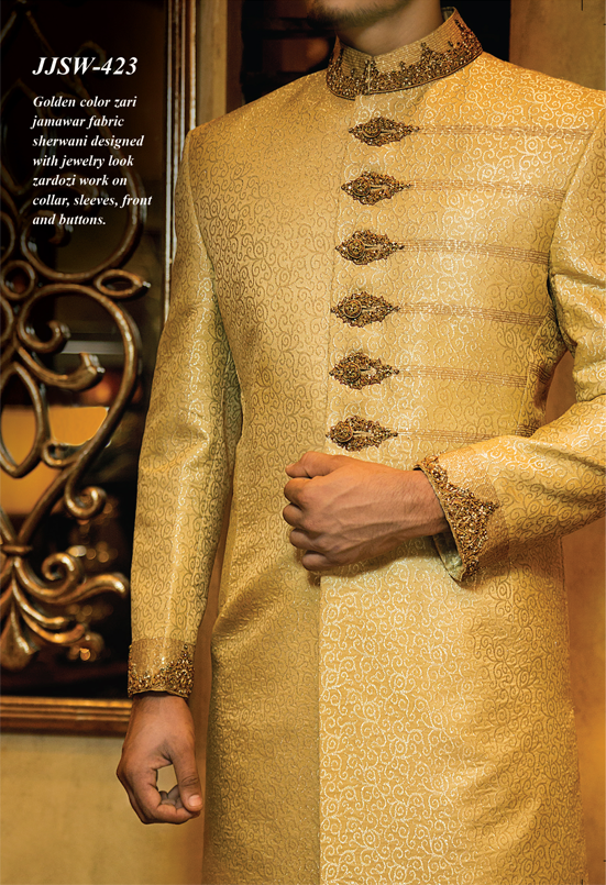 Junaid Jamshed Sherwani Collection 2014 For Men 006