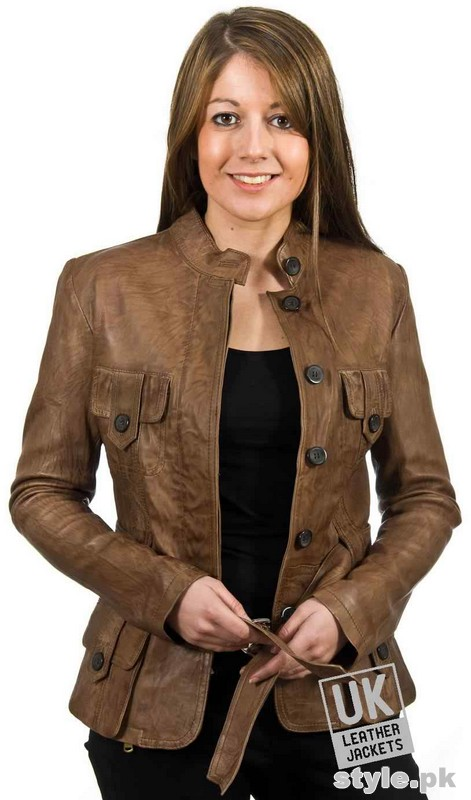 Latest Leather Jackets Trends 2014-15 For Women 10
