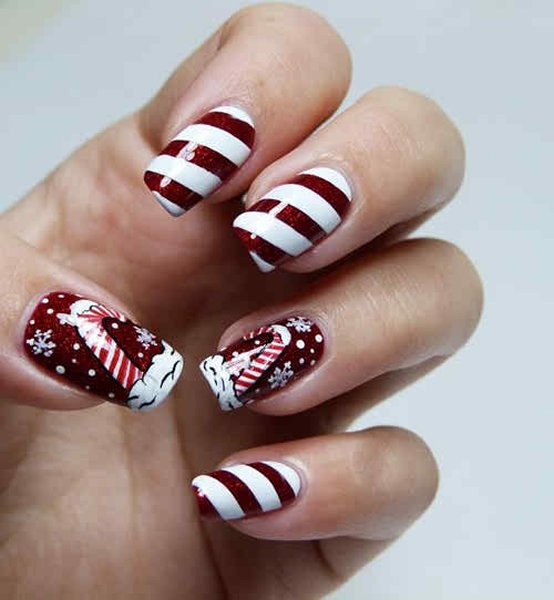 Latest Nail Art Designs 2014 For New Year 005