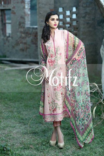 Motifz Winter Dresses 2014 Volume 2 For Women 002