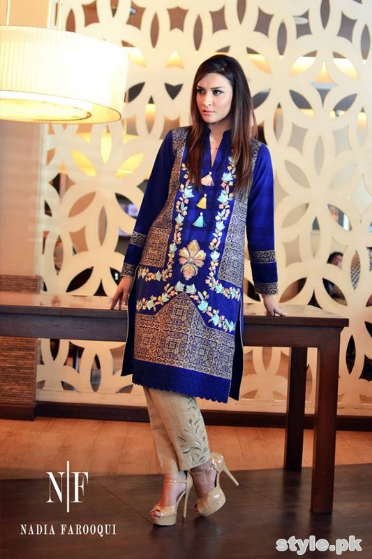 Nadia Farooqui Winter Dresses 2014-15 For Women 9