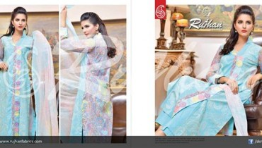 Rujhan Fabric Cotton Dresses 2014 For Women 003