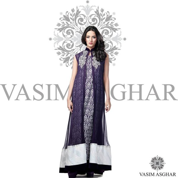 Vasim Asghar Winter Dresses 2014 For Women 004