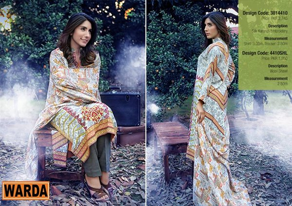 Warda Designer Winter Dresses 2014 Volume 2 For Women 0010