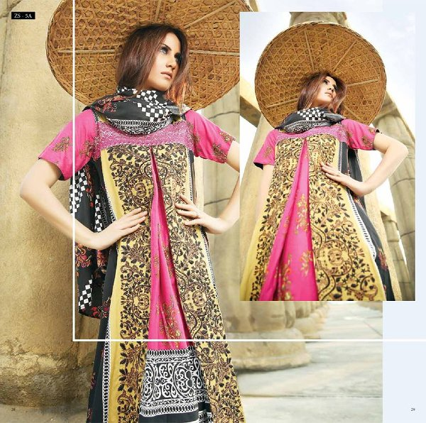 ZS Textiles Winter Dresses 2014 For Women0016