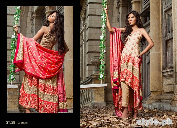 Zainab Chottani Winter Dresses 2014 by Shariq Textiles 1