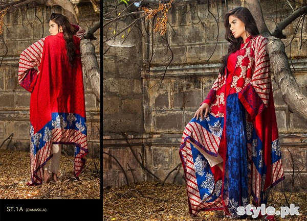 Zainab Chottani Winter Dresses 2014 by Shariq Textiles 7