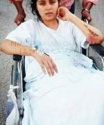 nimra khan accident pics