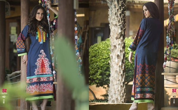 Al Zohaib Textile Embroidered Kurti Collection 2015 Volume 2 For Women 0012