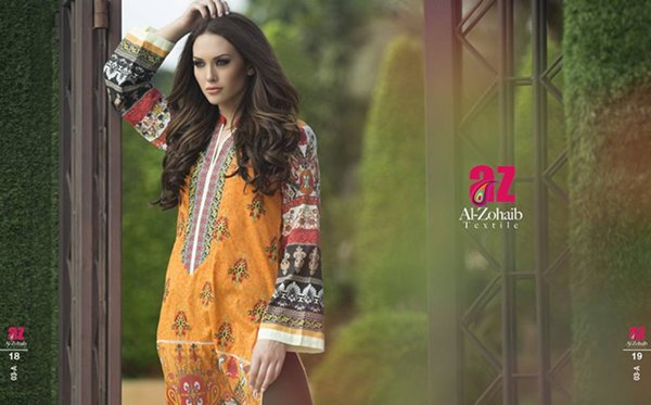 Al Zohaib Textile Embroidered Kurti Collection 2015 Volume 2 For Women 008