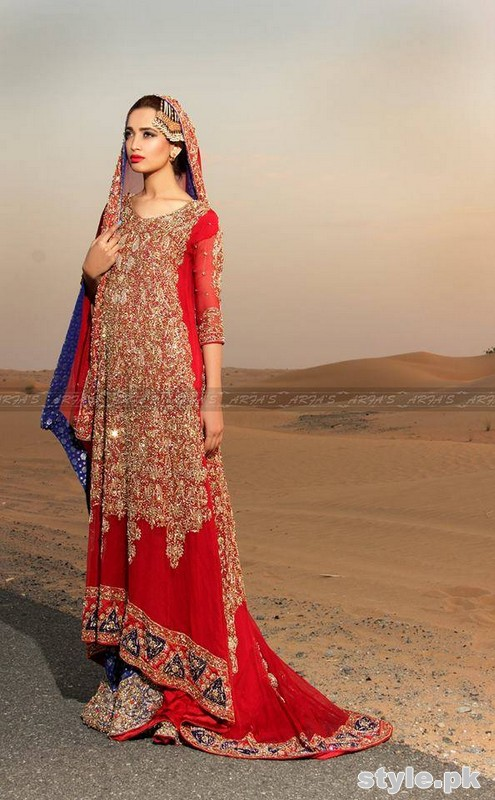Arfa Bridal Wear Dresses 2015 For Women 2