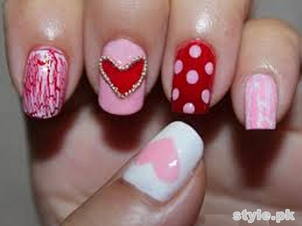 Beautiful Nail Art Designs 2015 For Valentines Day 10