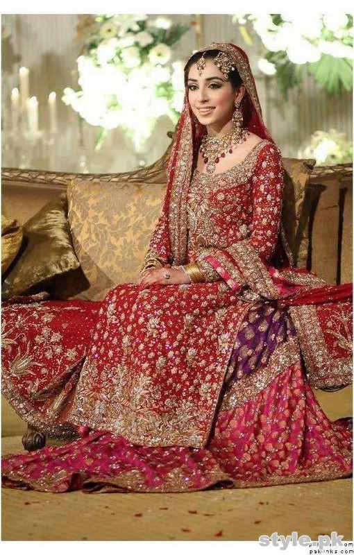Latest Bridal Gharara Designs 2017 In Pakistan 8