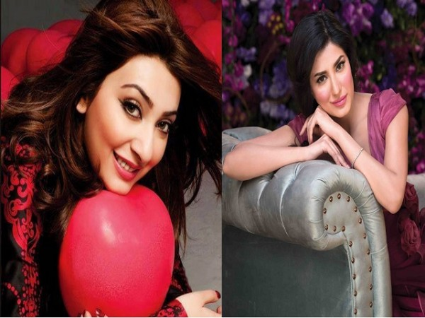 Mehwish Hayat and Ayesha Khan