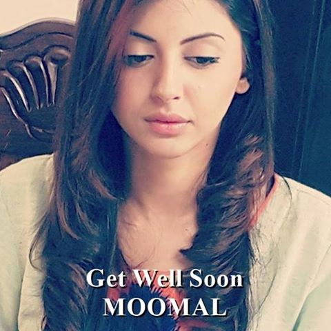 Momal Khalid suffered car accident