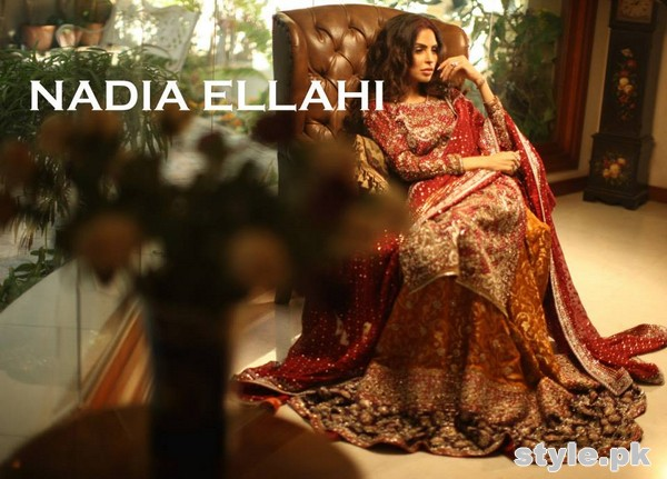 Nadia Ellahi Bridal Wear Dresses 2015 For Girls 5