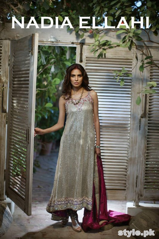 Nadia Ellahi Bridal Wear Dresses 2015 For Girls 7