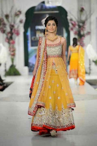 Pakistani Mehndi Dresses 2015 For Girls 0014 - Asian Wedding Dress Gumtree