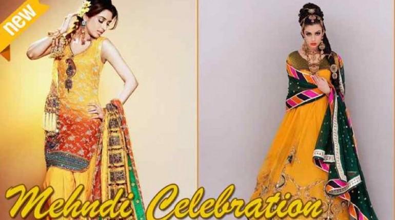 Pakistani Mehndi Dresses 2015 For Girls