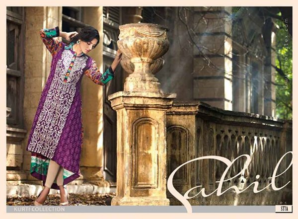 Shariq Textiles Sahil Kurti Collection 2015 For Women 0021