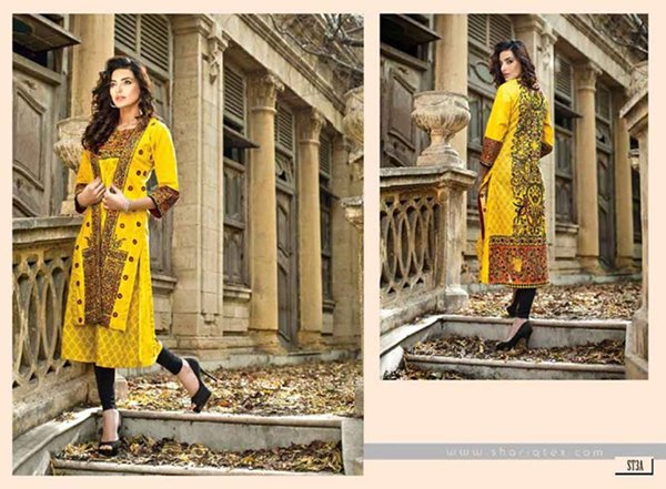 Shariq Textiles Sahil Kurti Collection 2015 For Women 0022