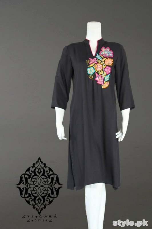 Stitched Stories Winter Dresses 2015 For Girls 6