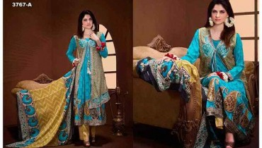 Tawakkal Fabrics Winter Dresses 2015 Volume 2 For Women 0013