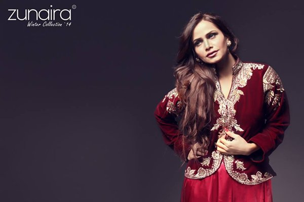 Zunaira Lounge Winter Dresses 2015 for Women 001