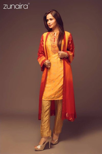 Zunaira Lounge Winter Dresses 2015 for Women 006