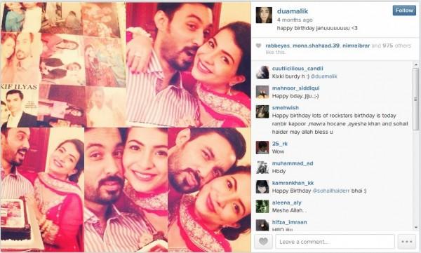 dua malik and sohail haider wedding pictures