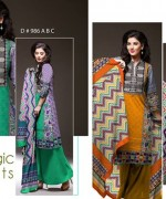 Ajwa Textile Chiffon Collection 2015 Volume 1 For Women 010