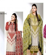 Ajwa Textile Chiffon Collection 2015 Volume 1 For Women