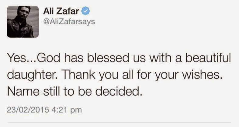Ali Zafar Blessed With A Baby Girl Exclusive Pictures