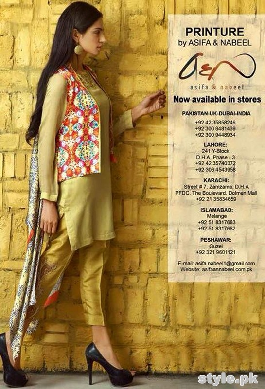Asifa and Nabeel Summer Dresses 2015 For Girls 5