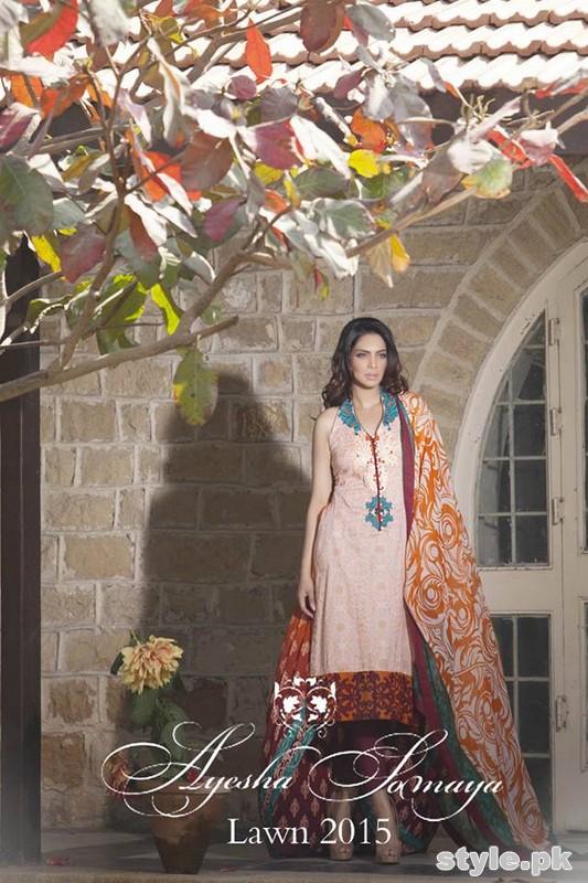 Ayesha Somaya Lawn Dresses 2015 By Flitz 11