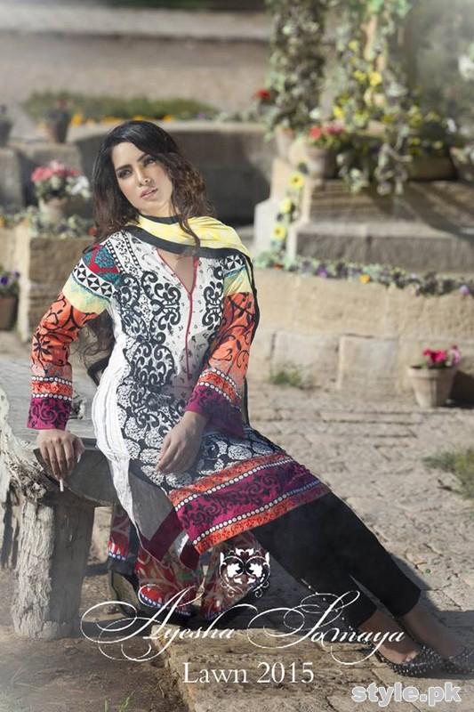 Ayesha Somaya Lawn Dresses 2015 By Flitz 13