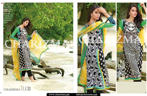 Charizma Summer Dresses 2015  Volume 1 For Women 0016
