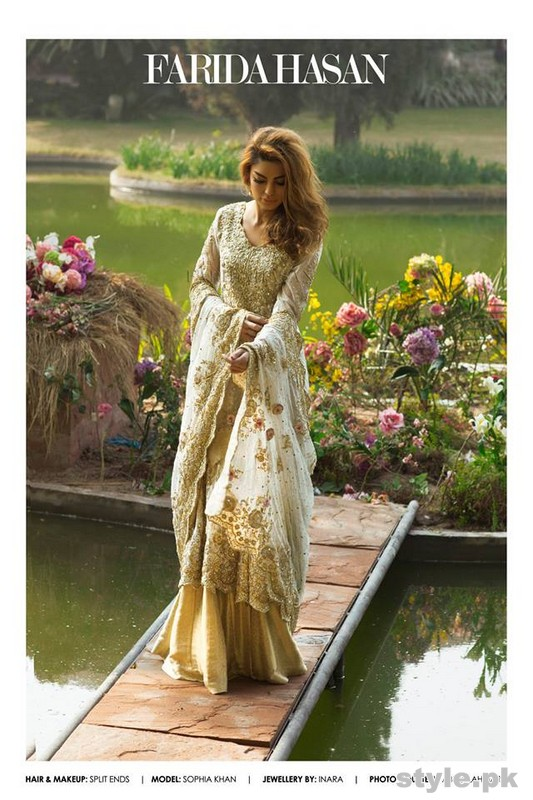 Farida Hasan Formal and Bridal Dresses 2015 For Girls 4