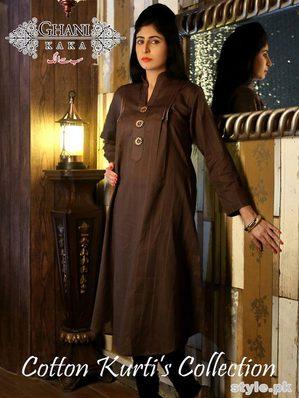 Ghani Kaka Cambric Kurti Collection 2015 For Spring 5