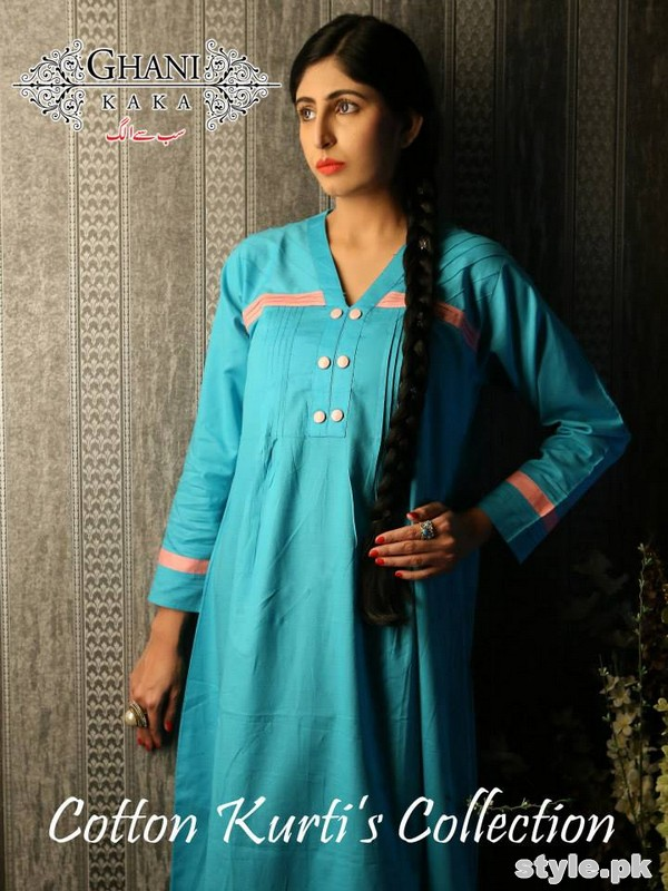 Ghani Kaka Cambric Kurti Collection 2015 For Spring 9
