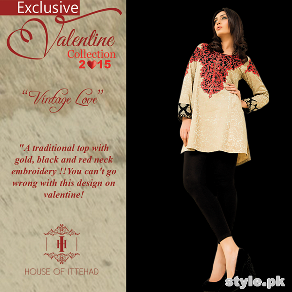 House Of Ittehad Valentine's Day Collection 2015 For Girls 3
