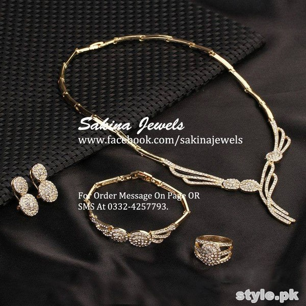 Latest Jewellery Collection 2015 by Sakina Jewelery 5