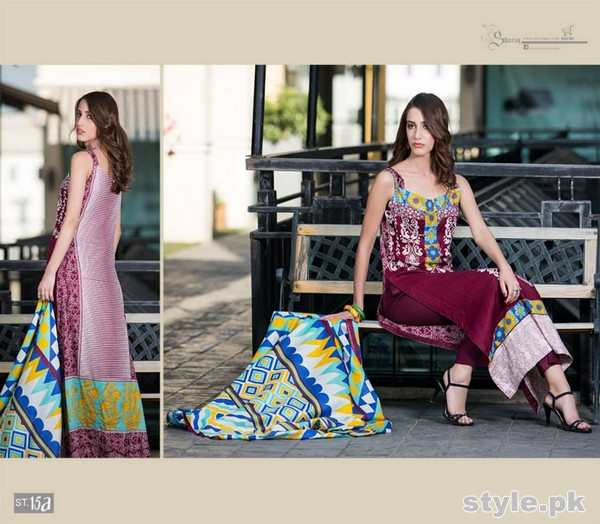 Libas Printed Lawn Dresses 2015 by Shariq Textiles 16