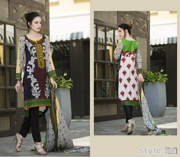 Libas Printed Lawn Dresses 2015 by Shariq Textiles 3