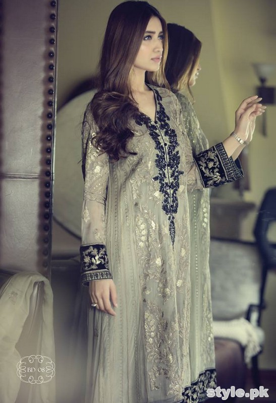 Maria B Mbroidered Dresses 2015 For Women 5