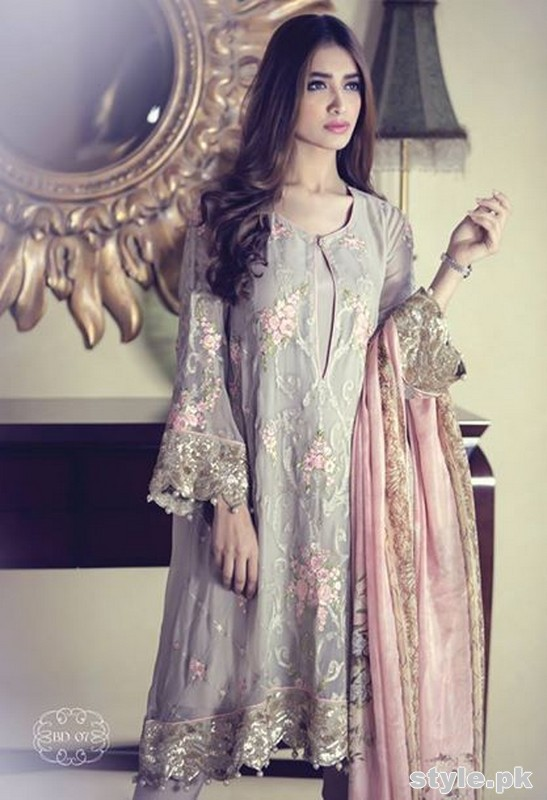 Maria B Mbroidered Dresses 2015 For Women 8